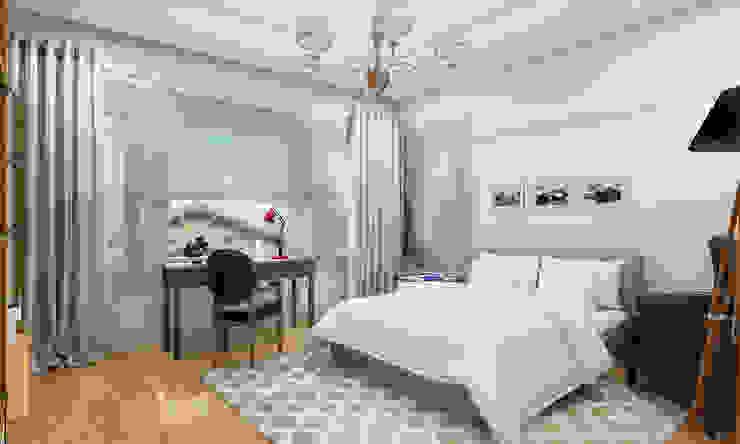 Коттедж в Комарово Спальня в стиле модерн от Spacelab Design Модерн