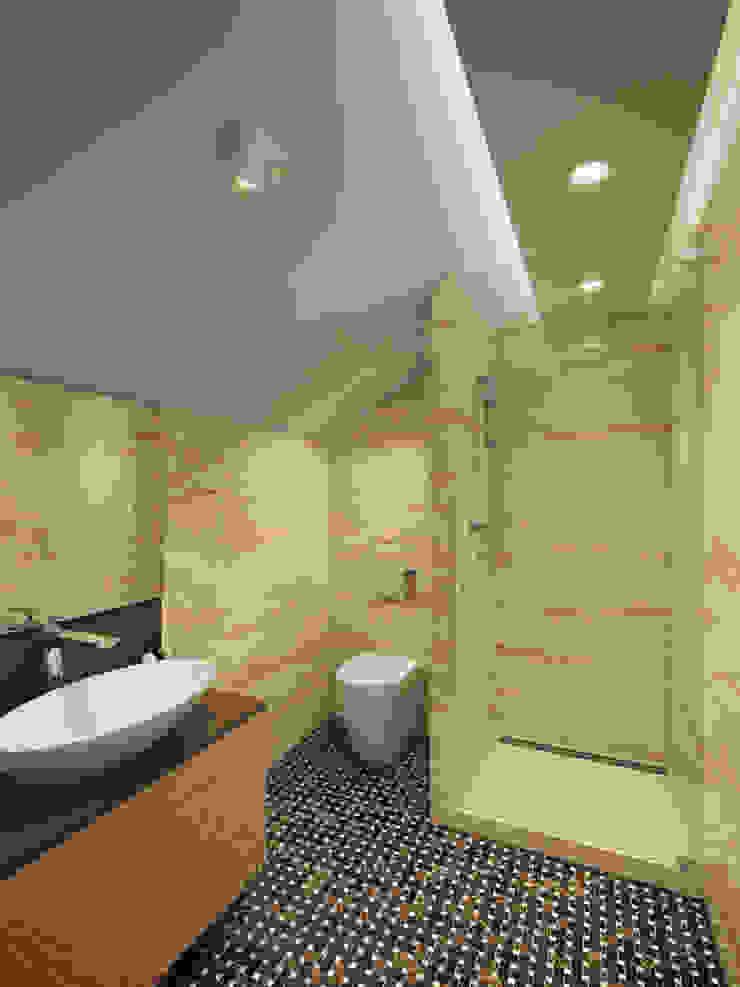 House in Tomsk Casas de banho modernas por EVGENY BELYAEV DESIGN Moderno