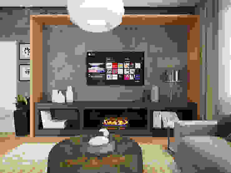 House in Tomsk Salas de estar modernas por EVGENY BELYAEV DESIGN Moderno