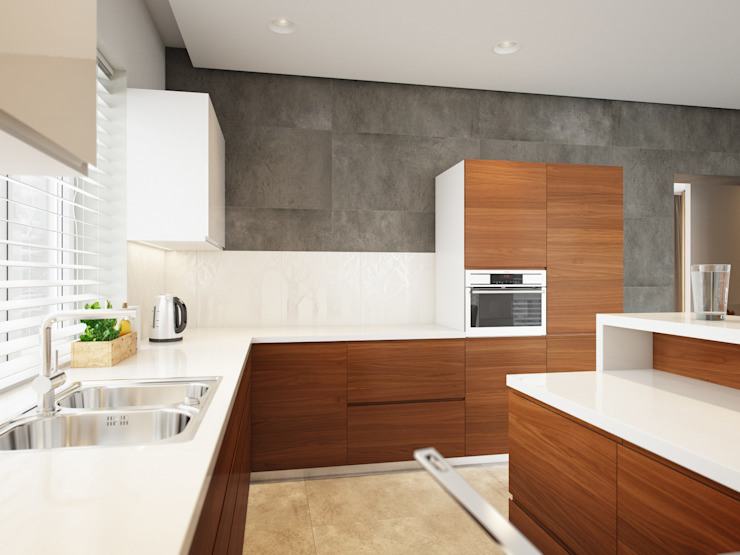 House in Tomsk Cozinhas modernas por EVGENY BELYAEV DESIGN Moderno