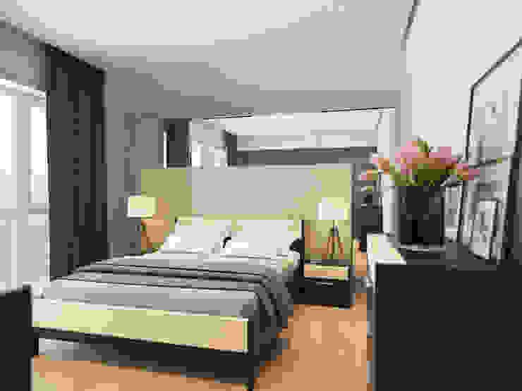 House in Tomsk:  Bedroom by EVGENY BELYAEV DESIGN