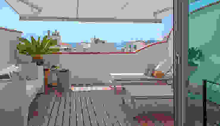 La terraza Balcones y terrazas modernos de Rardo - Architects Moderno