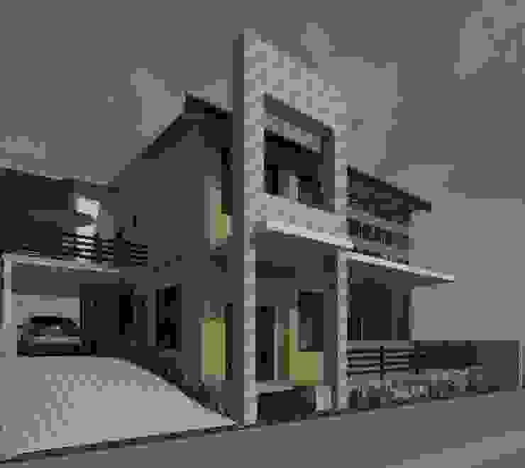 Fachada principal- lateral Diseño Store Casas modernas