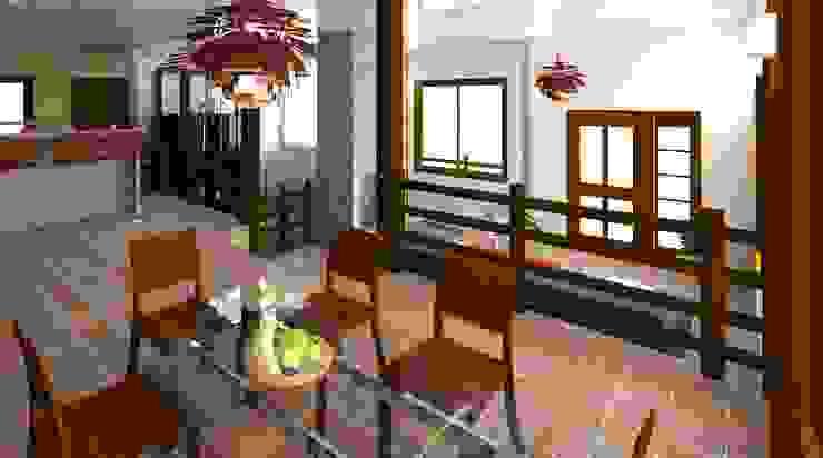 vista desde el comedor Diseño Store Comedores de estilo moderno