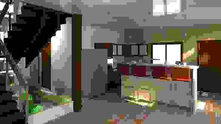 una vsita hacia la cocina Diseño Store Cocinas de estilo moderno