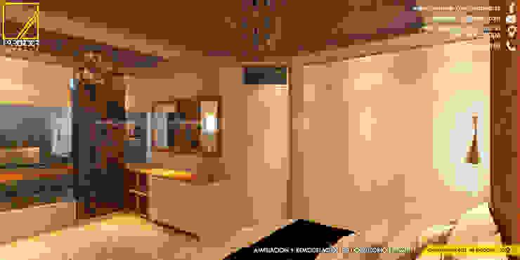 vista de las comodas existentes del propietario y vista del nuevo ropero en melamine _Contacto 925389750 Dormitorios de estilo moderno de F9.studio Arquitectos Moderno Aglomerado