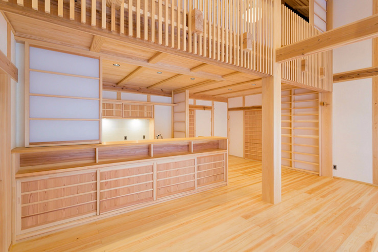 Modern kitchen by SSD建築士事務所株式会社 Modern Solid Wood Multicolored