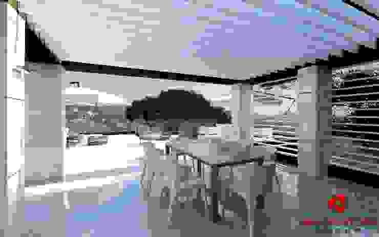 Sala da pranzo con terrazza esterna Baldantoni Group Sala da pranzo moderna