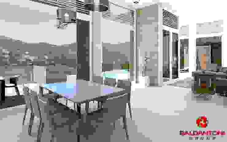 Soggiorno con vista panoramica Baldantoni Group Soggiorno moderno