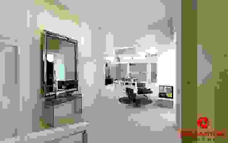 Corridoio ed inizio scale Baldantoni Group Ingresso, Corridoio & Scale in stile moderno