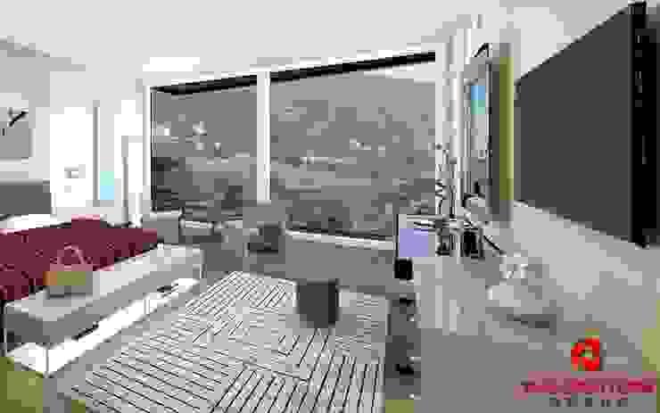 Camera da letto padronale con vista panoramica Baldantoni Group Camera da letto moderna