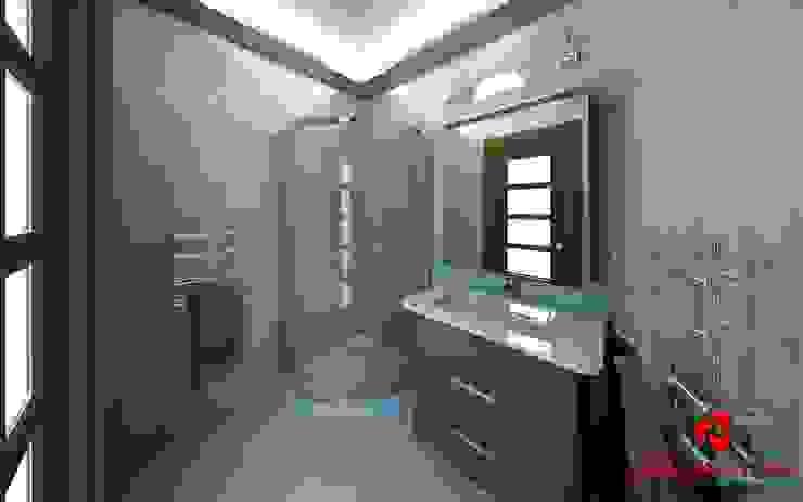 Bagno con doccia ad angolo Baldantoni Group Bagno moderno