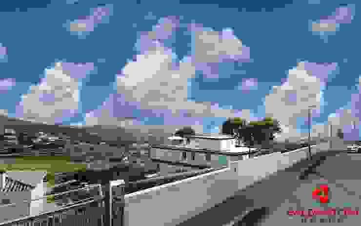 Vista dall'esterno della villa Baldantoni Group Case moderne