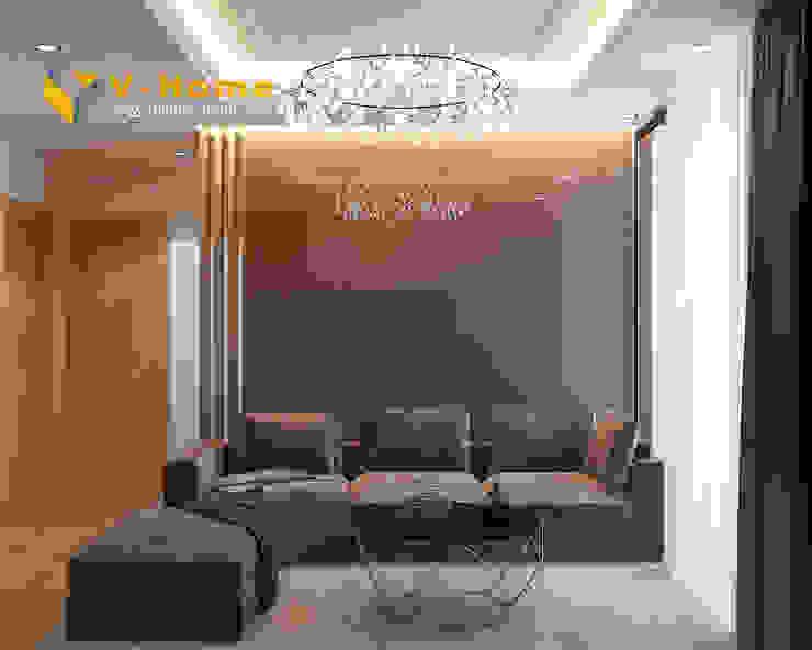 Thiết kế nội thất chung cư Mardarin garden 2, Hoà Phát – Chị An bởi Công ty CP Kiến trúc V-Home Hiện đại