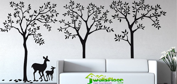 Home Interior Designers & Decorators In Ghaziabad & Greater Noida: modern  by Wallsfloor.com,Modern Leather Grey