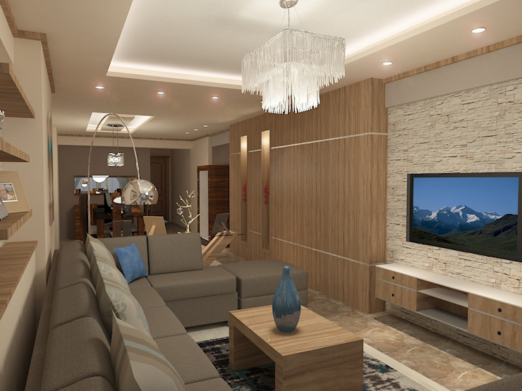 recepation area render 3 من Quattro designs حداثي ألواح خشب مضغوط