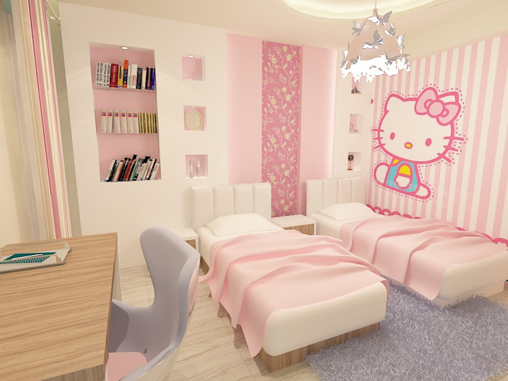girl bedroom render 1 من Quattro designs حداثي