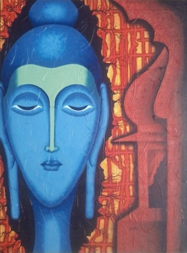 Buddha to leave our empire 2: modern  by Indian Art Ideas,Modern
