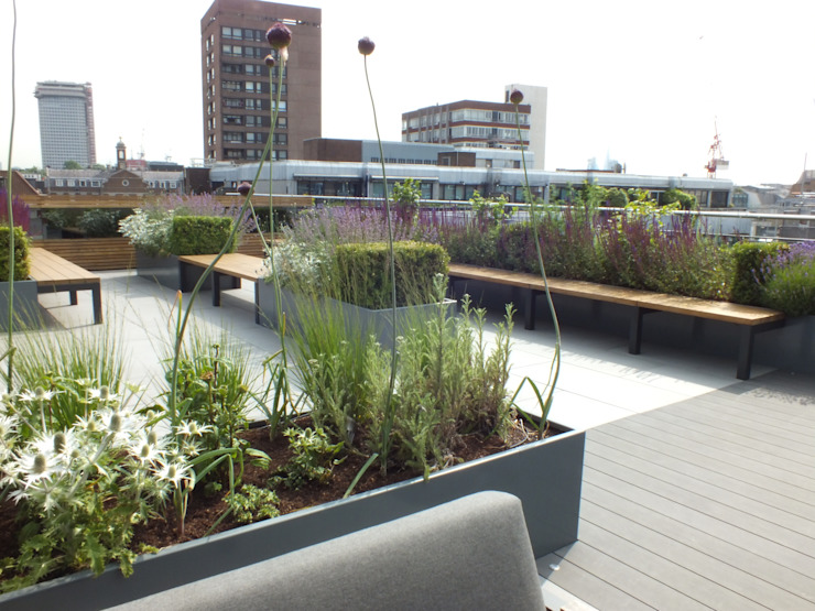 Ganton Street Roof Terrace London by Aralia Modern Stone