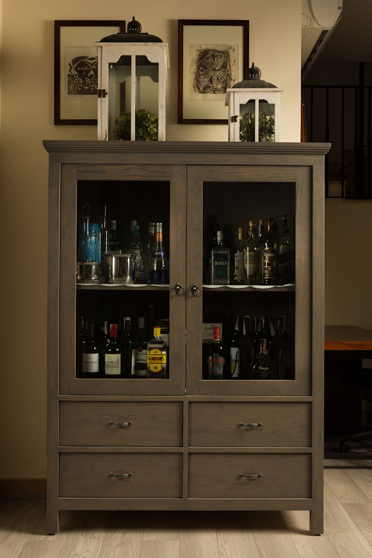 eclectic  by Mazura, Eclectic Solid Wood Multicolored