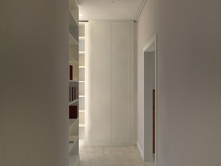 Modern Corridor, Hallway and Staircase by Flavia Benigni Architetto Modern