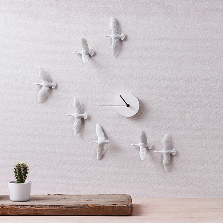 Haoshi Migrantbird X Clock - V Form: modern  by Just For Clocks,Modern Ceramic