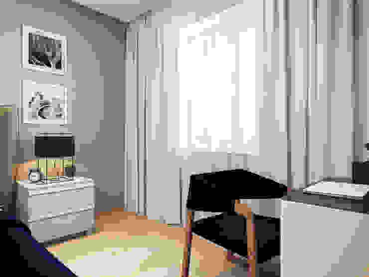 Apartment in Tomsk EVGENY BELYAEV DESIGN Modern style bedroom