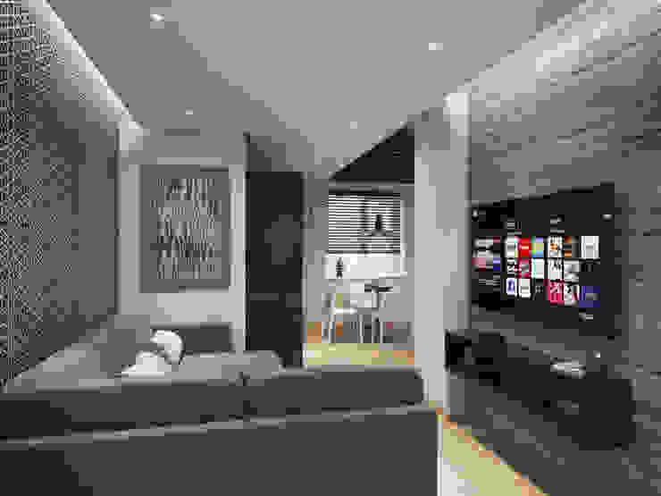 Apartment in Tomsk EVGENY BELYAEV DESIGN Modern living room