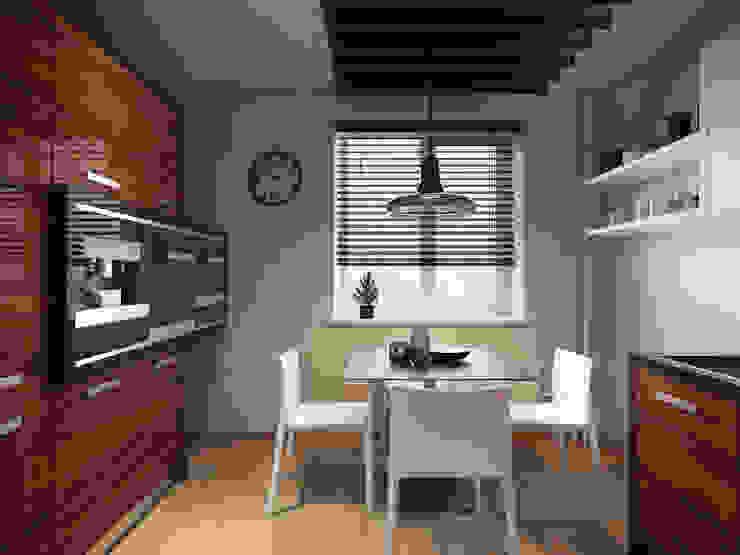 Apartment in Tomsk EVGENY BELYAEV DESIGN Modern kitchen