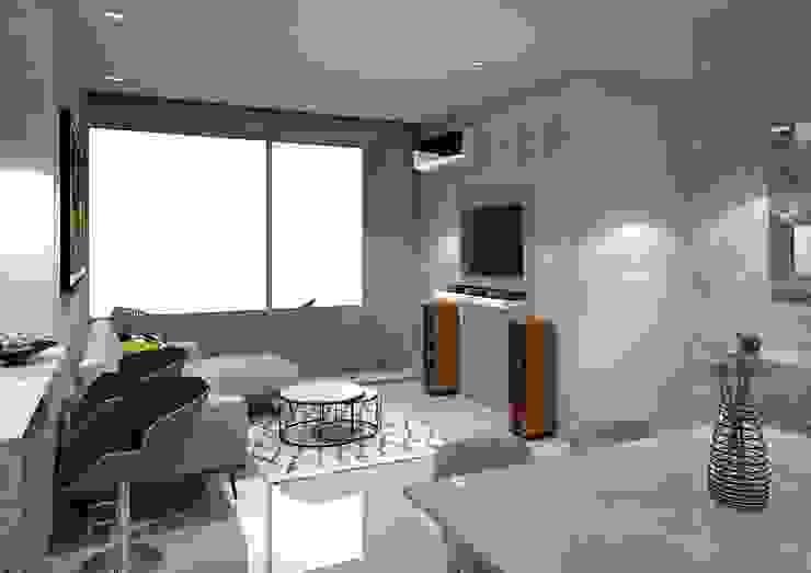 Diseño interior apartamento Modern Living Room by Savignano Design Modern