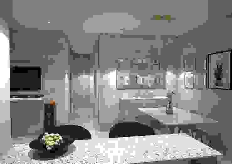 Diseño interior apartamento Modern Dining Room by Savignano Design Modern