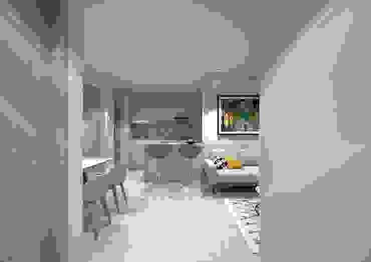 Diseño interior apartamento Modern Kitchen by Savignano Design Modern