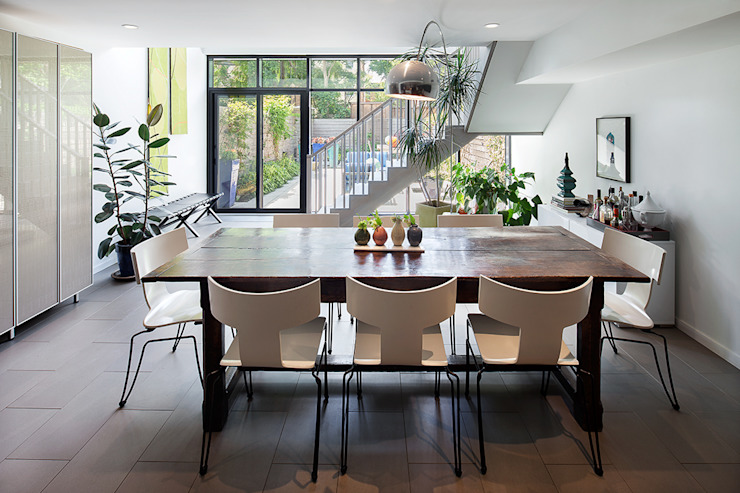 Carroll Gardens Townhouse Modern dining room by andretchelistcheffarchitects Modern