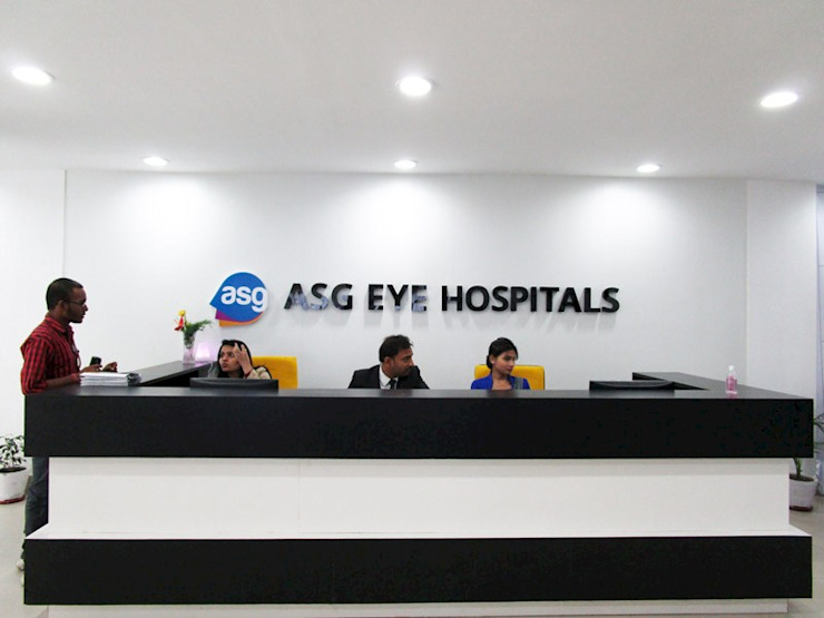 ASG Eye Hospital Modern hospitals by Falcon Resources Modern