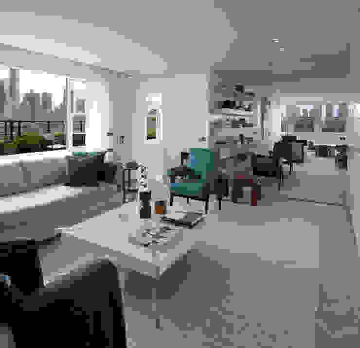 Upper East Side Apartment Modern Media Room by andretchelistcheffarchitects Modern