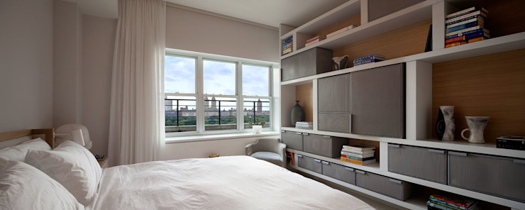 Upper East Side Apartment Modern style bedroom by andretchelistcheffarchitects Modern