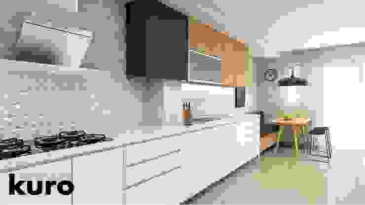Cocinas de estilo  por Kuro Design Studio, Moderno