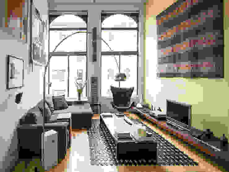 greenwich village duplex Modern Living Room by Kimberly Peck Architect Modern