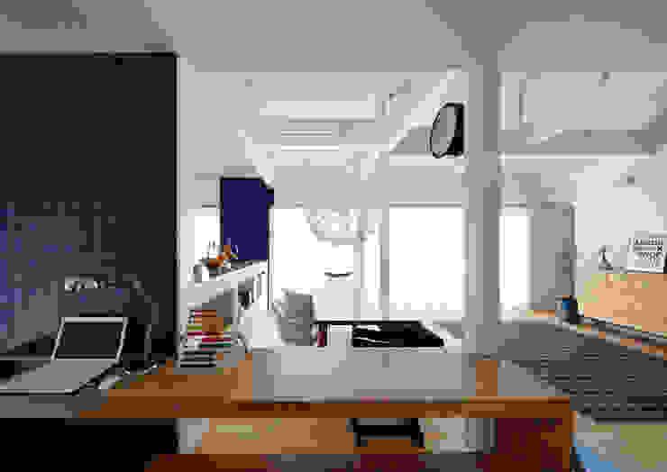 Ruang Keluarga Gaya Skandinavia Oleh atelier m Skandinavia