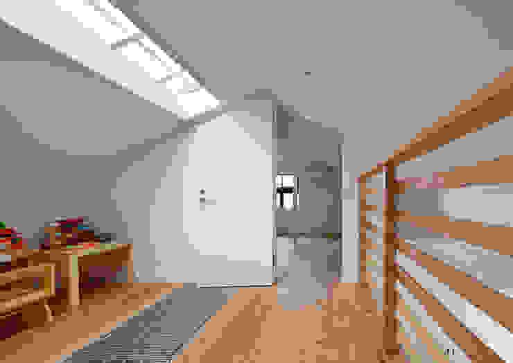 書斎入り口 北欧デザインの 書斎 の atelier m 北欧