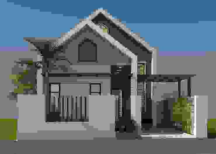 Nhà gác lửng hiên đại bởi Công ty TNHH CND Associates - Kiến trúc CND