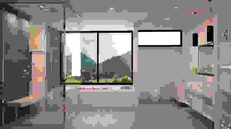 render interiorismo Baños de estilo minimalista de okull creativo Minimalista