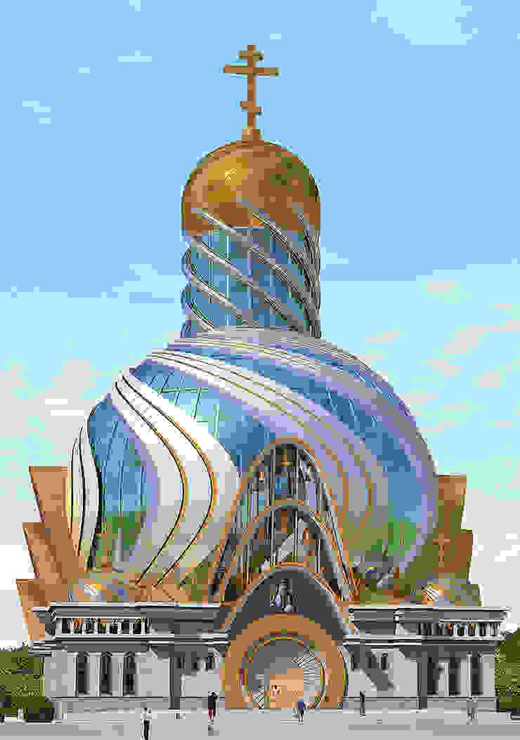 Современное архитектурное решение православного храма от Проектная группа «Портал»