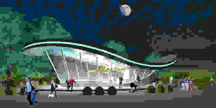 Выставочный павильон с мобильной функцией шоу-рума от Проектная группа «Портал»