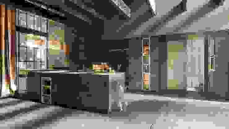 مطبخ تنفيذ Halcyon Interiors