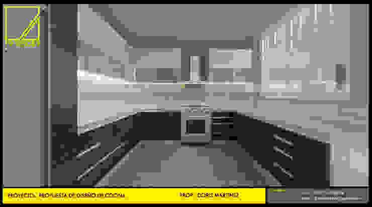 Vista lateral de Cocina de F9.studio Arquitectos Moderno