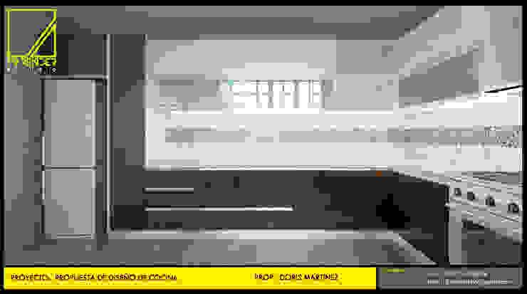 Vista Frontal de Cocina de F9.studio Arquitectos Moderno Aglomerado