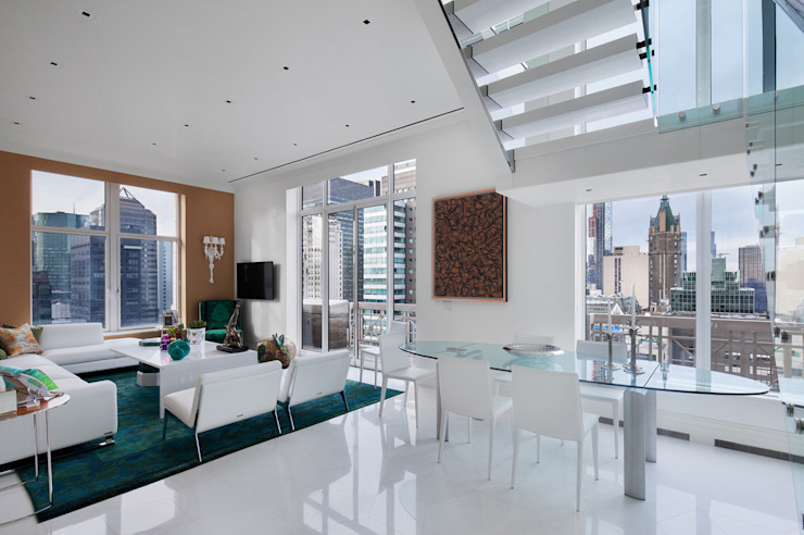 Park Avenue Duplex Modern Dining Room by andretchelistcheffarchitects Modern
