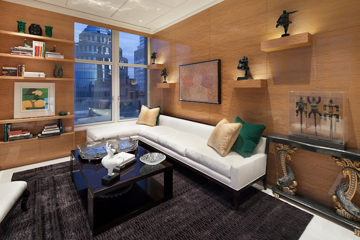 Park Avenue Duplex Modern Living Room by andretchelistcheffarchitects Modern