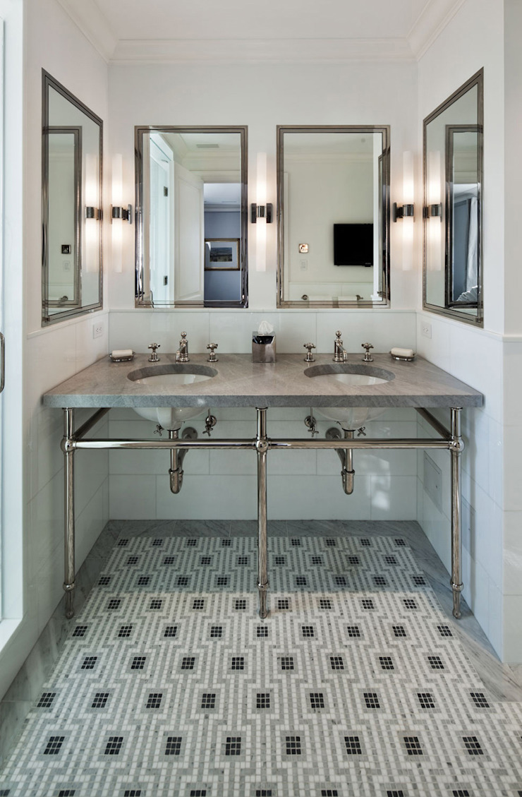 Fifth Avenue Apartment andretchelistcheffarchitects Modern bathroom